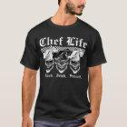 Lachende Kochs-Schädel T-Shirt