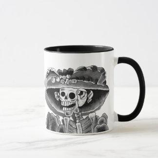 Lachende Skeleton Frau Tasse