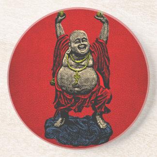 Lachender Buddha (Farbe 4) Untersatz