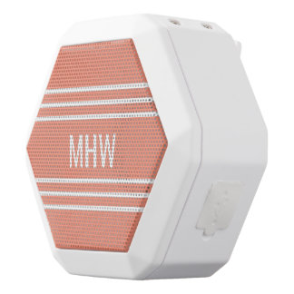 Lachs Stripes kundenspezifische Weiße Bluetooth Lautsprecher