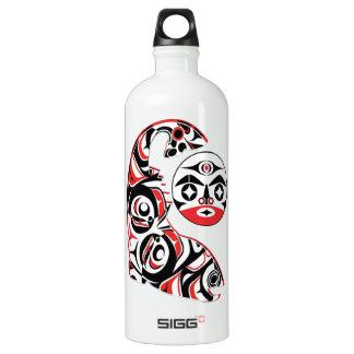 Lachsgeist Aluminiumwasserflasche