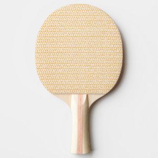 Lachspfirsich-Webart-Maschen-Blick Tischtennis Schläger