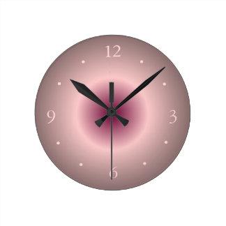 LachsRose und leuchtende rosa kreative Wand-Uhr Runde Wanduhr
