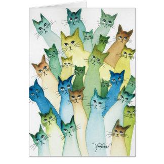 Lacomb wunderliche Katzen Karte