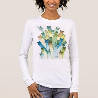 Lacomb wunderliches Katzen-Shirt Langarm T-Shirt