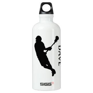 Lacrosse-männlicher Spieler in der Silhouette Liam Aluminiumwasserflasche