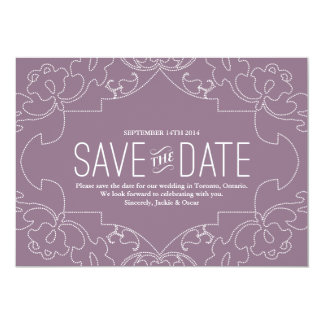 Lacy Save the Date //orchidee oder -veilchen Karte