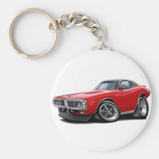 Ladegerät Rot-Schwarzes Se-Auto 1973-74 Schlüsselanhänger