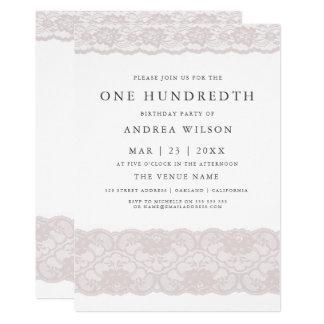 Laden 100. Party Geburtstag der eleganten rosa Karte