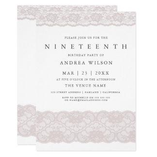 Laden 19. Party Geburtstag der Mädchen-rosa Karte