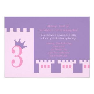 Laden 3. Geburtstags-Party Prinzessin ein Einladungskarte