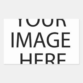 Laden Sie Ihr eigenes Foto Rechteckiger Aufkleber