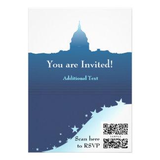 Laden Sie Schablone politische US-Hauptstadt ein Personalisierte Ankündigungskarten