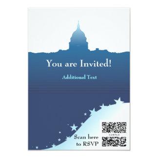 Laden Sie Schablone politische US-Hauptstadt ein 12,7 X 17,8 Cm Einladungskarte