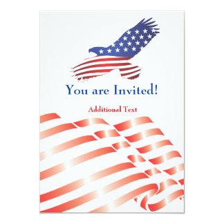 Laden Sie Schablonen-politische Flagge u. Eagle 12,7 X 17,8 Cm Einladungskarte