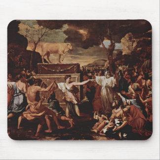 L'adoration du veau d'or par Nicolas Poussin Tapis De Souris