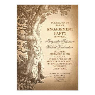 lädt altes rustikales Verlobungs-Party des 12,7 X 17,8 Cm Einladungskarte