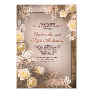 Lädt Vintages Verlobungs-Party der viktorianischen 12,7 X 17,8 Cm Einladungskarte