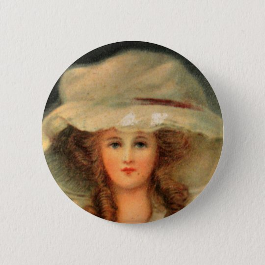 Lady Hat Runder Button 5,7 Cm