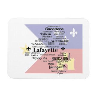 Lafayette-Gemeinde setzt Magneten mit Cajun Flagge Magnet