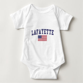 Lafayette IN US-Flagge Baby Strampler