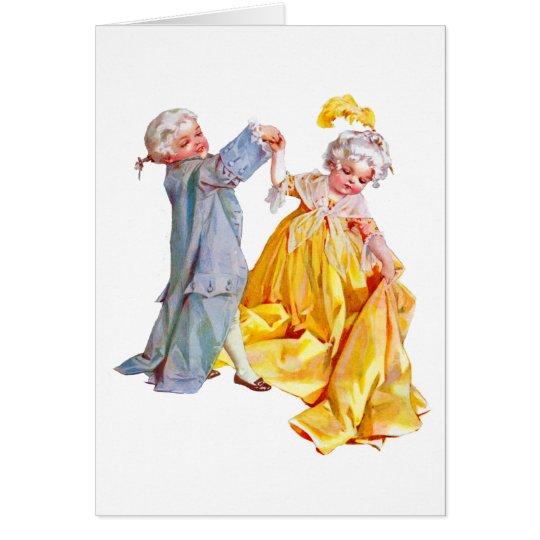 Lafayette tanzt das Menuett Grußkarte