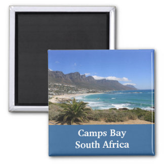 Lager-Bucht-Strand, Südafrika Quadratischer Magnet
