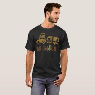 Lager gehen Wohnwagenanhänger wilder T-Shirt