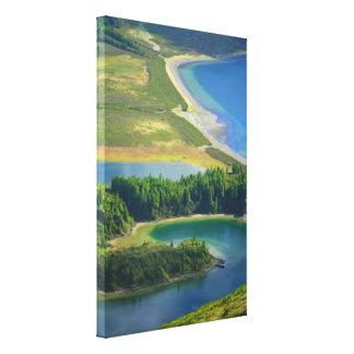 Lagoa tun Fogo, Azoren Leinwanddruck