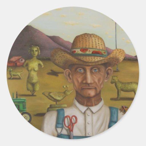 L'agriculteur excentrique adhésif rond