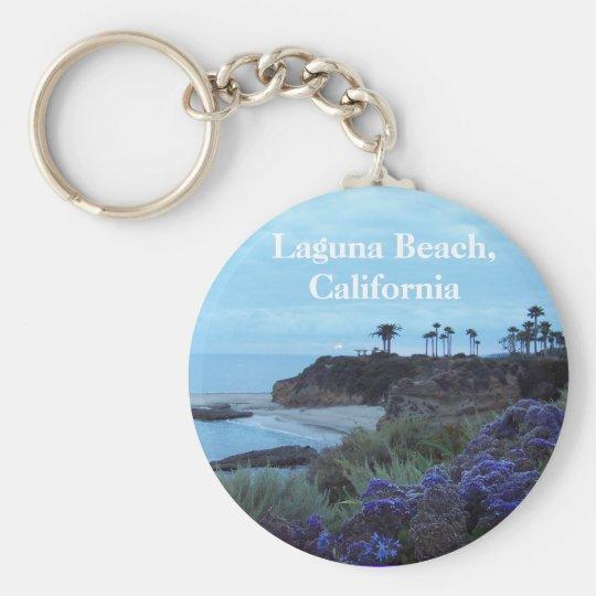 Laguna Beach Kalifornien Standard Runder Schlüsselanhänger