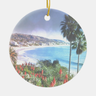 Laguna Beach Kalifornien, weiche Effektivität Rundes Keramik Ornament