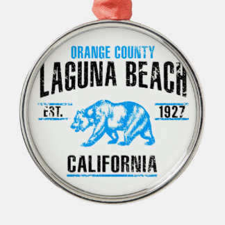 Laguna Beach Silbernes Ornament