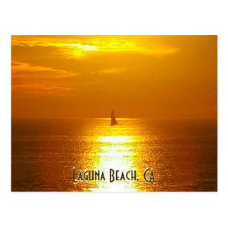 Laguna Beach-Sonnenuntergang Postkarte
