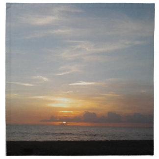 Laguna-Sonnenuntergangsmog Stoffserviette