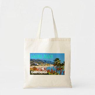 Laguna-Strand-Vintage Reise-Plakat-Art Budget Stoffbeutel