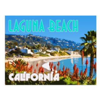 Laguna-Strand-Vintage Reise-Plakat-Postkarte Postkarte
