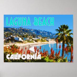 Laguna-Strand-Vintages Reise-Plakat Poster