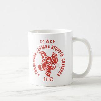 Laika - sowjetische Kaffee-Tasse des Raum-HundCCCP Kaffeetasse