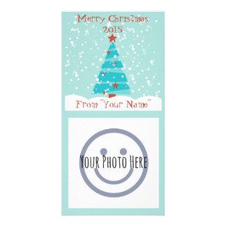 Laissez lui neiger Noël Photocard Photocarte Personnalisée