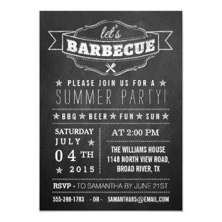 Laissez-nous BBQ ! Partie d'été de typographie de Carton D'invitation 12,7 Cm X 17,78 Cm