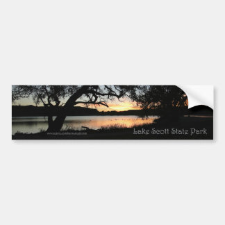 Lake Scott State Park Kansas Sunset Bumper Sticker Autoaufkleber