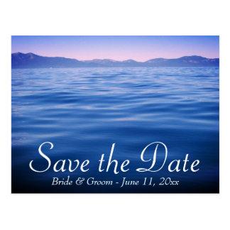 Lake Tahoe Save the Date Postkarte