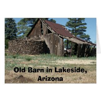 LakesideBarn, alte Scheune im Seeufer, Arizona Karte
