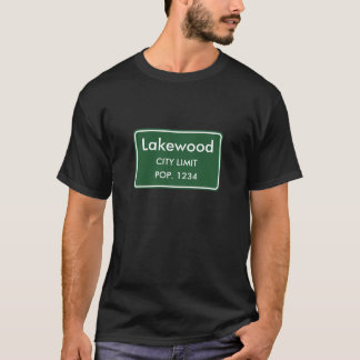 Lakewood, Co-Stadt-Grenze-Zeichen T-Shirt