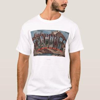 Lakewood, Colorado - große Buchstabe-Szenen T-Shirt
