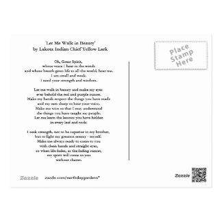 Lakota Gebet Postkarte
