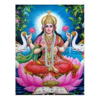Lakshmi Göttin der Liebe, des Wohlstandes und des Postkarte