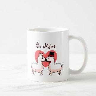Lama de fantaisie et petit lama mug