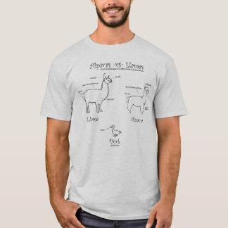 Lamas gegen Alpakas: Ein Führer T-Shirt
